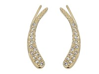 Vince Camuto Pave Curve Appeal Climbers Earrings Gold Crystal Earring