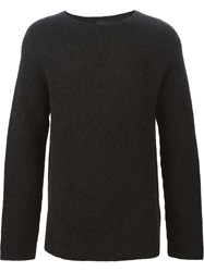 3.1 Phillip Lim Boxy Knitted Sweater Black