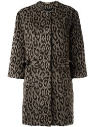 Peter Jensen Animal Print Coat Nude And Neutrals