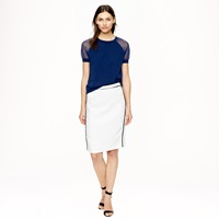 J.Crew Petite Pencil Skirt In Herringbone Linen