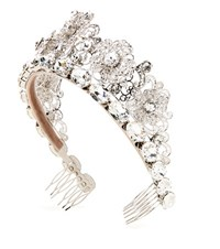 Dolce And Gabbana Crystal Embellished Tiara Silver