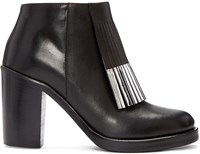 Mcq By Alexander Mcqueen Black Wick Fringe Ankle Boots