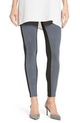 Hue Women's Colorblock Faux Suede Leggings