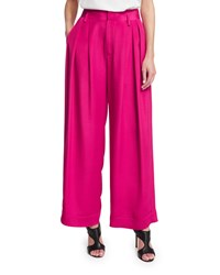 Cnc Costume National Pleated Front Wide Leg Trousers Pink Women's