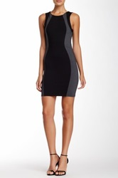 David Lerner Sleeveless Colorblock Mini Dress Gray