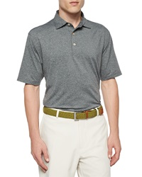 Peter Millar Short Sleeve Jersey Knit Polo Shirt Dark Gray
