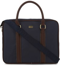 Ted Baker Carbon Nylon Briefcase Navy