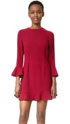 Jill Stuart Bell Sleeve Dress Currant