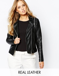 Y.A.S Beina Leather Jacket Black