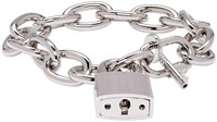 Dsquared Silver Lock Chain Bracelet