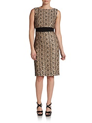 Eva Franco Aria Floral Embroidered Sheath Dress Seine