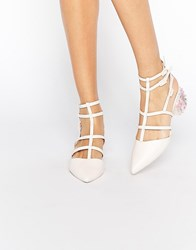 Asos Spectacle Caged Pointed Heels Pink
