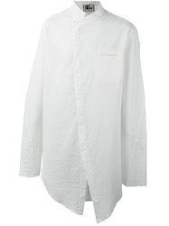 Lost And Found Long Asymmetric Shirt White