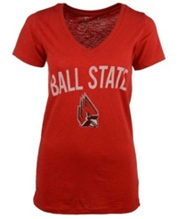 Royce Apparel Inc Women's Ball State Cardinals Vintage Arch T Shirt Red