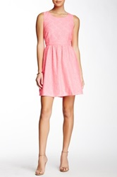 Julie Brown Eva Pleather Sleeveless Dress Pink