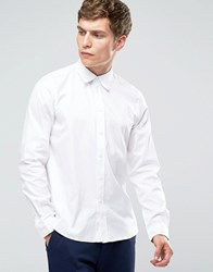 Paul Smith Shirt In Tailored Slim Fit In White White