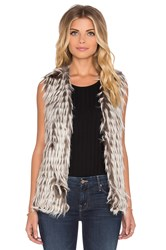 Unreal Fur I'll Take You Faux Fur Vest Gray