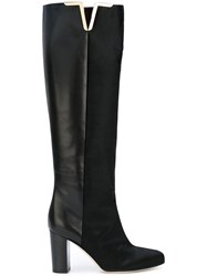 Brian Atwood Knee Length Boots Black