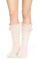 Lemon Women's 'Marshmallow' Slipper Socks With Faux Fur Lining Vanilla Cream