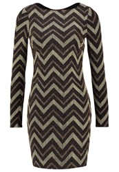 Dorothy Perkins Chevron Shift Dress Yellow