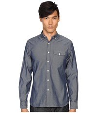 Todd Snyder Italian Oxford Patch Flap Shirt Blue