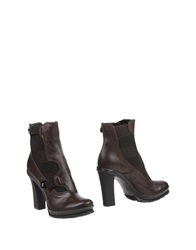 Fabi Ankle Boots Dark Brown