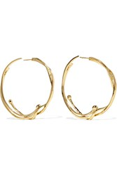 Aurelie Bidermann Ariane Gold Plated Hoop Earrings