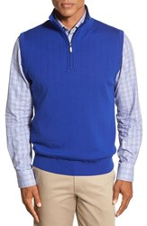 Men's Bobby Jones Quarter Zip Wool Sweater Vest Marina