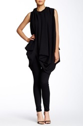 Gracia Draped Tunic Dress Black