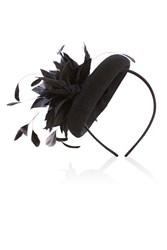 Coast Bay Felt Fascinator Black