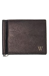 Men's Cathy's Concepts Personalized Leather Wallet And Money Clip Metallic Brown W