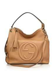 Gucci Soho Large Hobo Bag Ivory Camelia Black