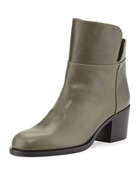 Laurence Dacade Millreef Leather Low Equestrian Boot Green Women's