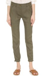 Veronica Beard Caladium Cargo Pants Army Green