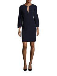 Burberry Carrie Keyhole Dress Blue