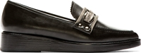 Toga Pulla Black Leather Pointed Flats