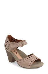 Women's Cobb Hill 'Trista' Peep Toe Pump Taupe Leather