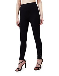 Miss Selfridge Black Lattice Leggings
