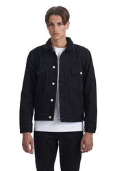 Wood Wood New Arrivals W.W. Denim Cam Jacket Black