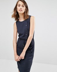 Warehouse Utility Popper Front Dress Navy