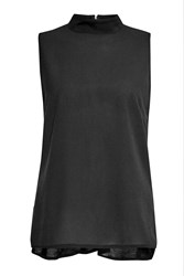 French Connection Polly Plains Sleeveless Top Black
