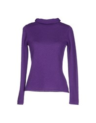 Armani Collezioni Turtlenecks Purple