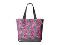 Toms Transport Canvas Tote Indigo Tribal Zigzag Tote Handbags