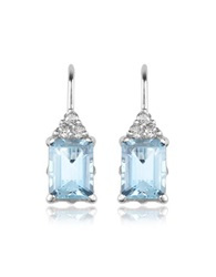 Incanto Royale Aquamarine And Diamond 18K Gold Drop Earrings