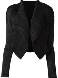 Pleats Please By Issey Miyake Pleated Blazer Black
