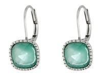 The Sak Cushion Stone Leverback Earrings Aqua Earring Blue