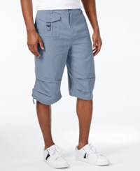 Sean John Men's Lightweight Solid Big And Tall Utility Shorts Aviator Blue