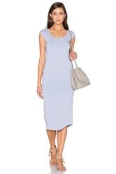 Monrow Cap Sleeve Dress Blue