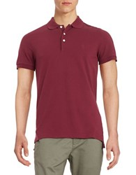 Brooks Brothers Textured Polo Dark Red