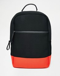 Asos Backpack In Scuba With Contrast Black